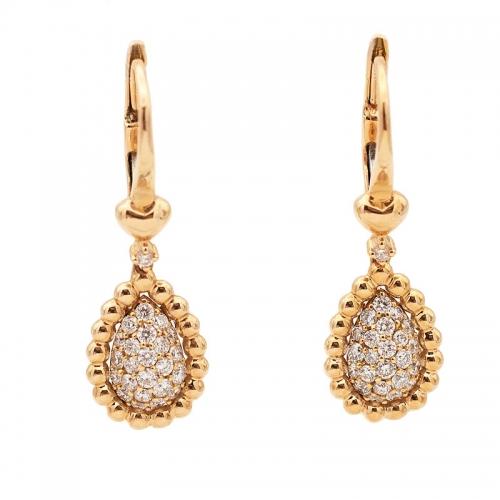 Pendientes de oro rosa y diamantes  - 1