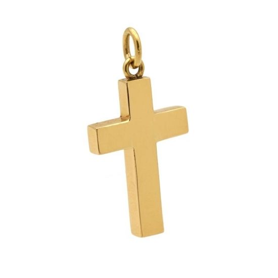 Cruz de oro amarillo  - 1