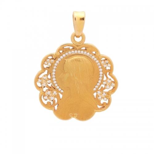 Medalla de oro con brillantes  - 1