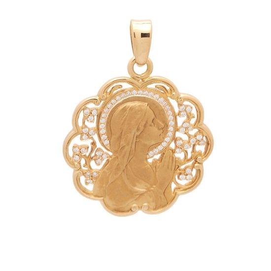 Medalla de oro con brillantes.  - 1