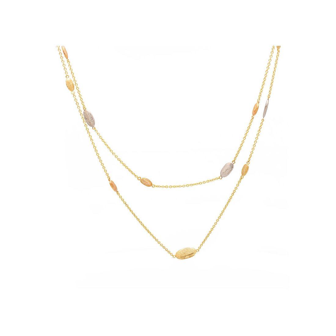 Gargantilla de oro tricolor  - 1