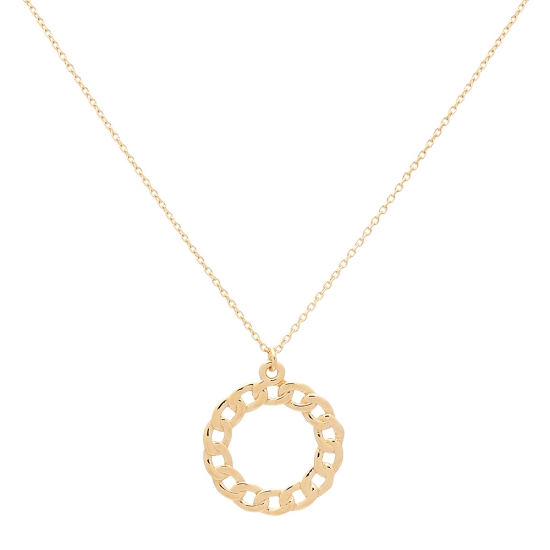 Colgante circular de oro amarillo  - 1