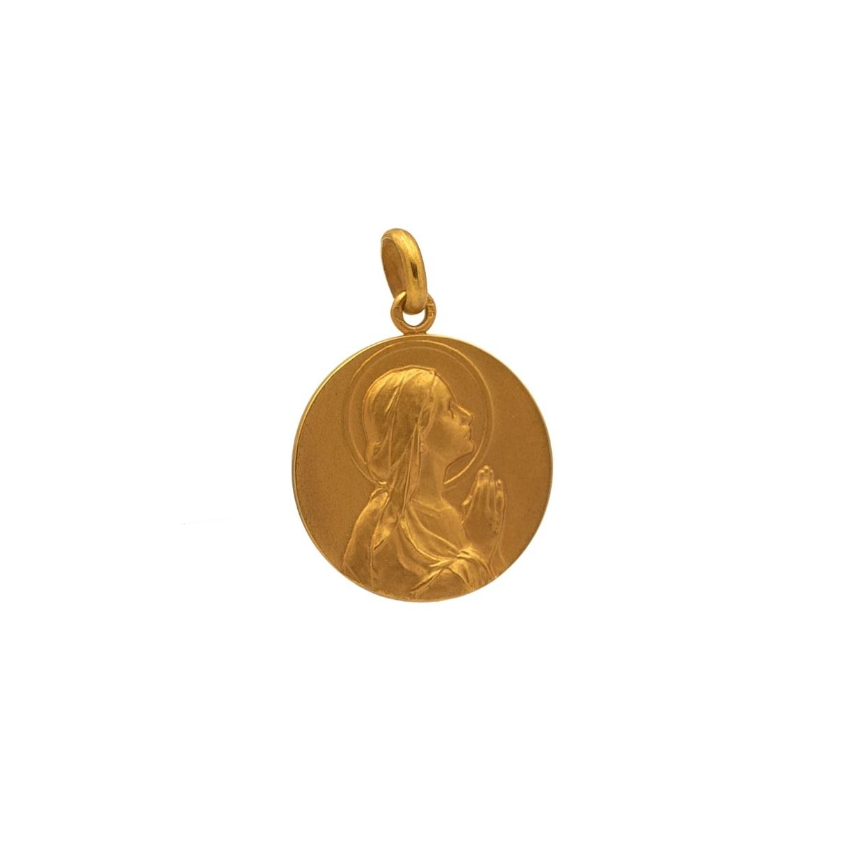 Medalla con imagen de Virgen niña  - 1