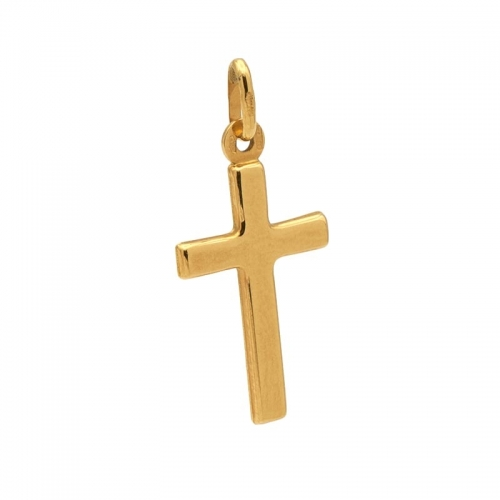 Cruz hueca de oro amarillo  - 1
